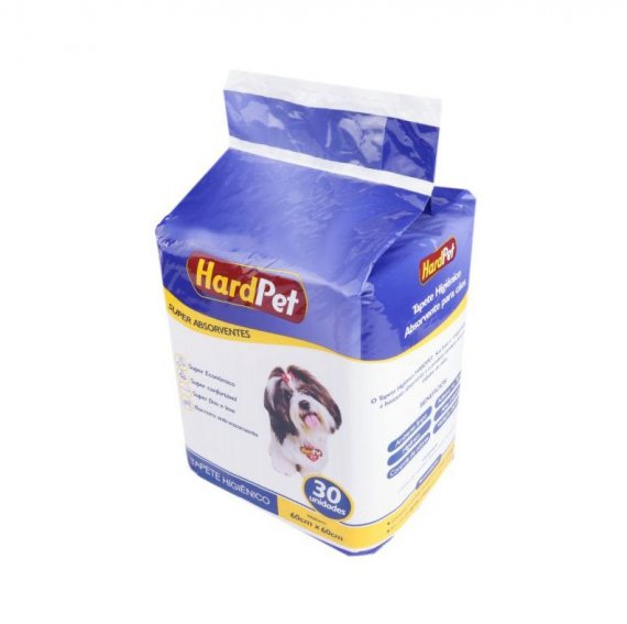TAPETE HIGI HARD PET 60X60 30 UN