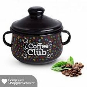 Acucareiro Metal Preto Coffee Club 2515