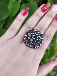 Anel Strass 120442 - <strong>Jet Hematite</strong>