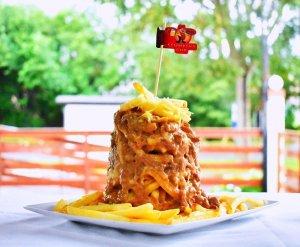 Torre de batatas - média