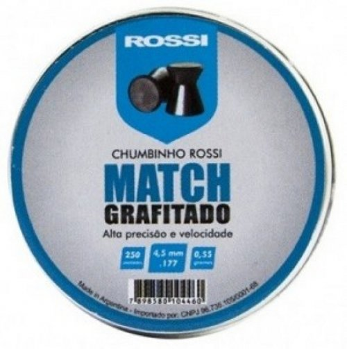 Chumbinho Rossi Match Grafitado 4,5mm