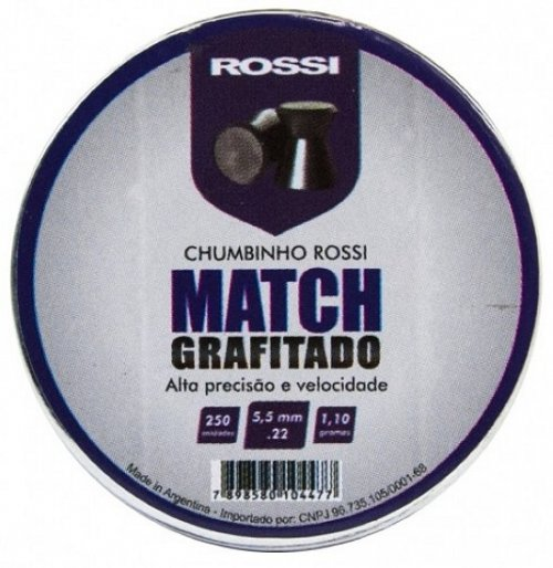 Chumbinho Rossi Match Grafitado 5,5mm