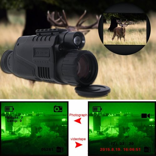 Monoculo Night Vision Digital 5x40 Para 200mts
