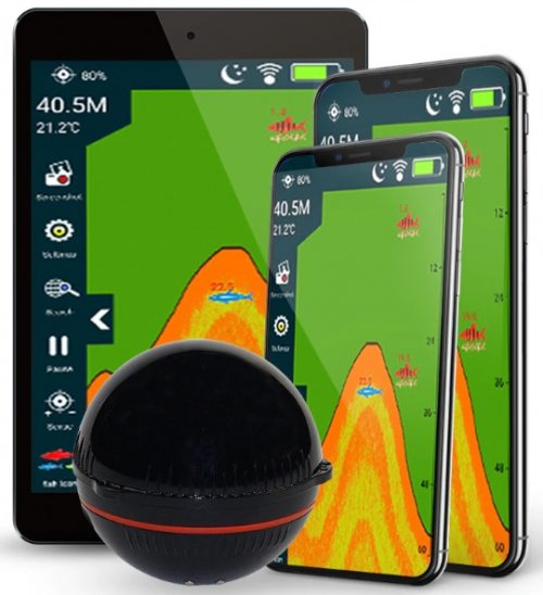 Sonar Portatil Fish Finder Sem Fio Por Aplicativo Celular