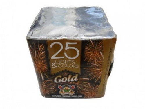 Torta Light & Color Gold 25 Tubos Reta
